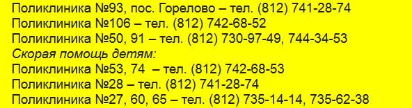 Скорая помощь поликлиник Красносельского района